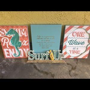 Beach-Themed Wall Art Bundle!